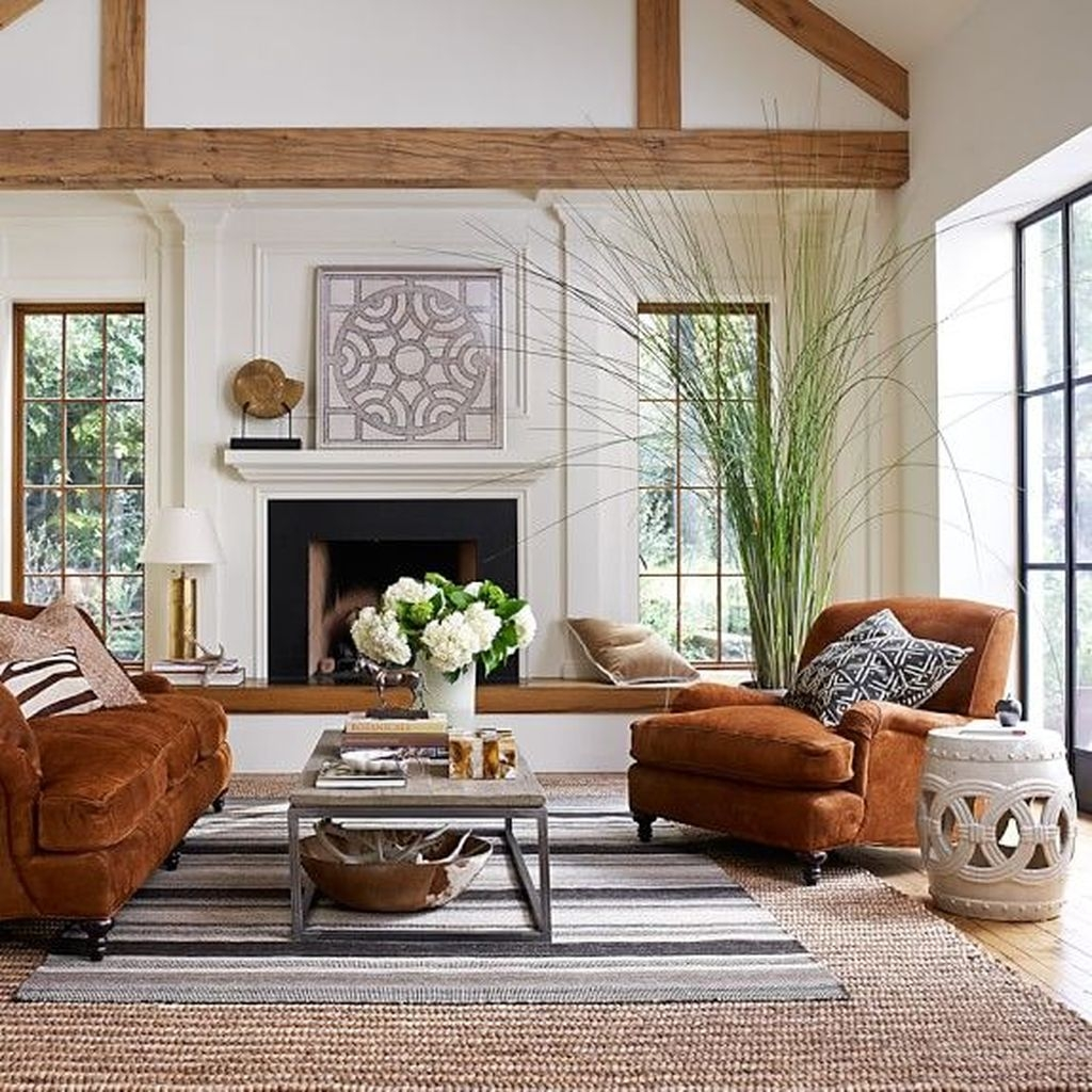 44 Awesome Modern Rustic Living Room Decor Ideas Pimphomee
