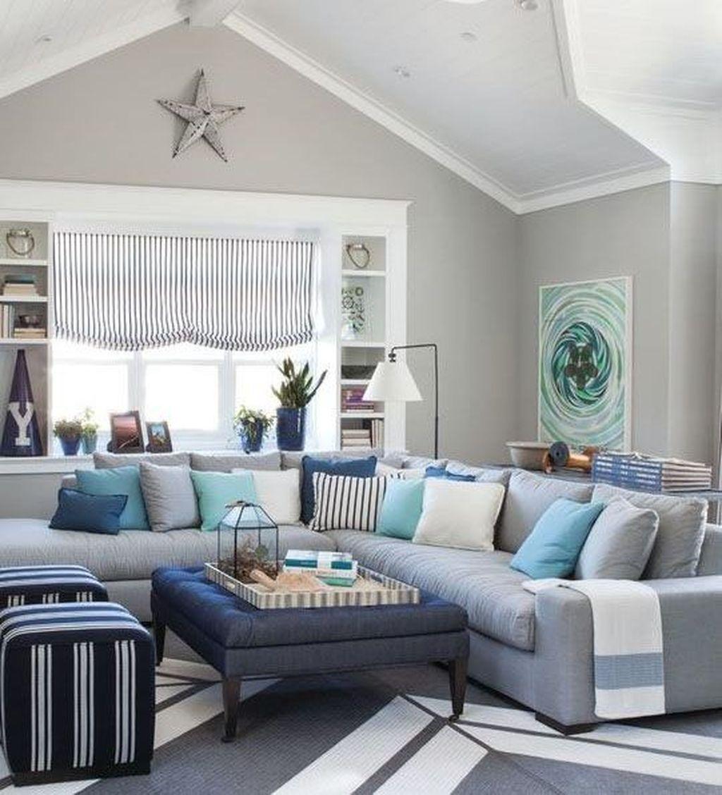 46 Popular Farmhouse Dining Room Design Ideas Trend 2019: Amazing Coastal Living Room Decoration Ideas You Must Try
