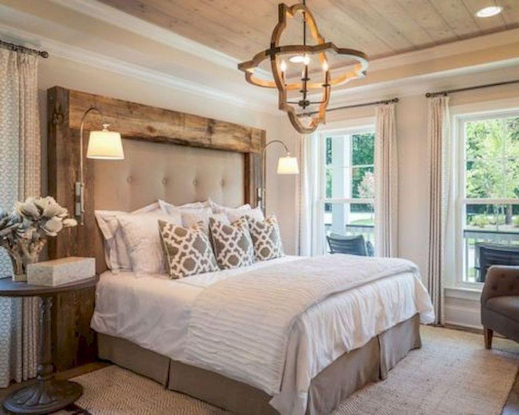 44 Beautiful Modern Farmhouse Master Bedroom Decoration ... on Master Bedroom Farmhouse Bedroom Images  id=32208
