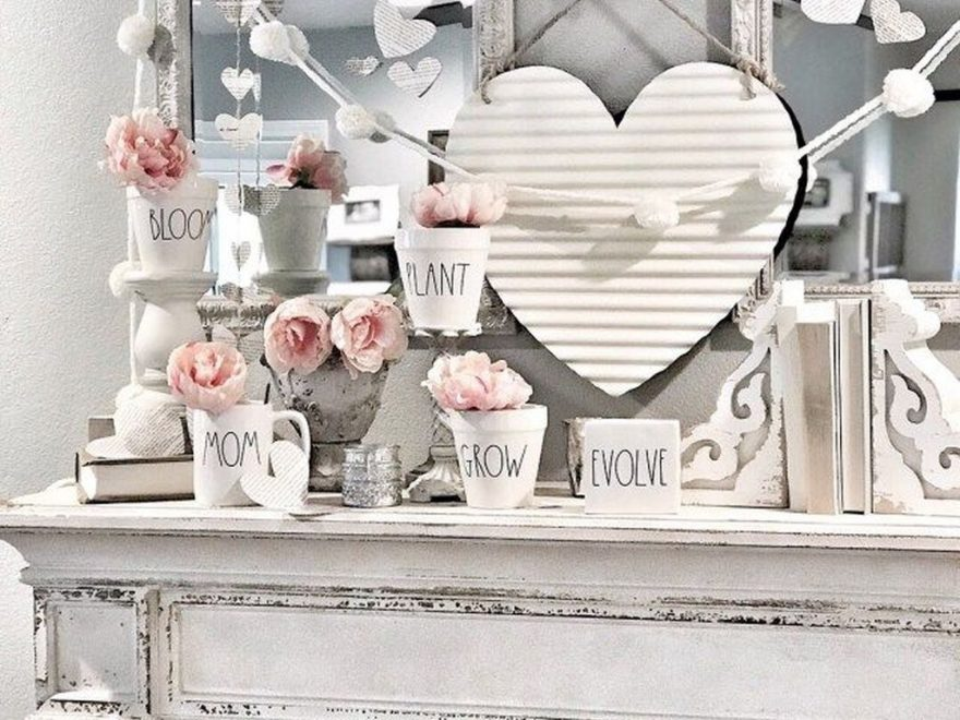 Cute Farmhouse Style Valentine Decorations 32