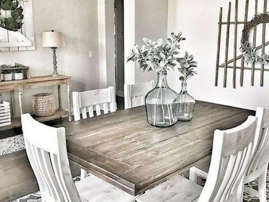 Popular Farmhouse Dining Room Design Ideas Trend 2019 42