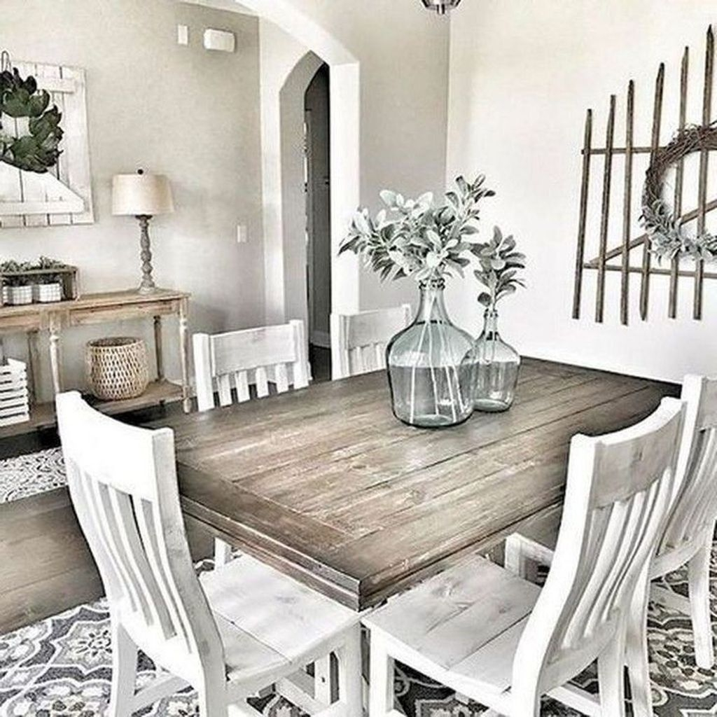 46 Popular Farmhouse Dining Room Design Ideas Trend 2019