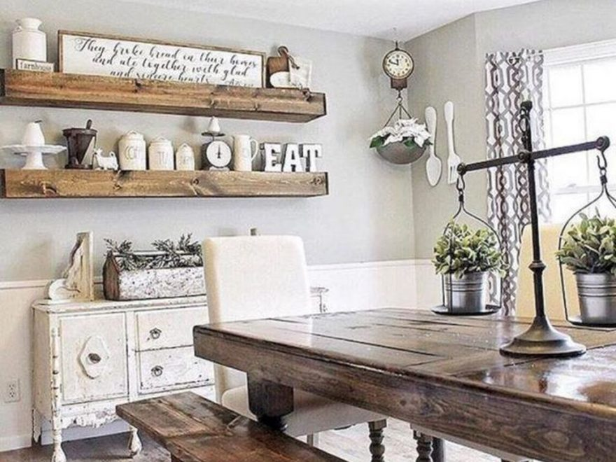 Stunning Farmhouse Dining Room Decoration Ideas 41