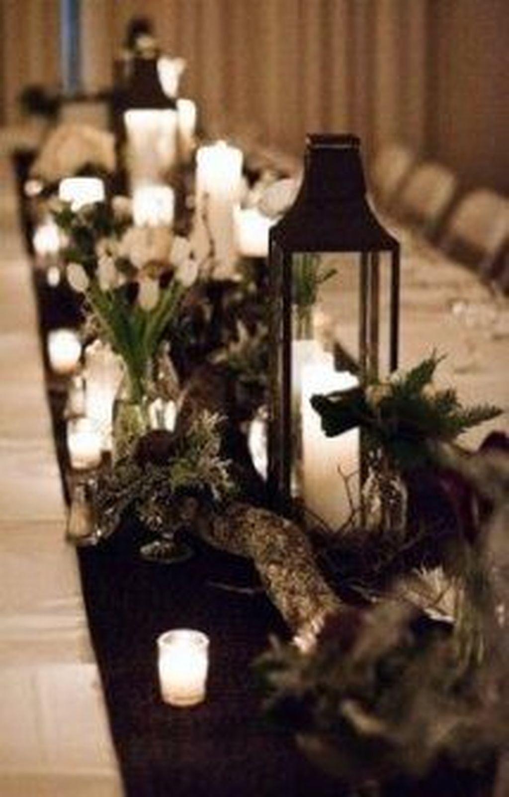 Fabulous Winter Lantern Centerpieces Ideas 22 Pimphomee