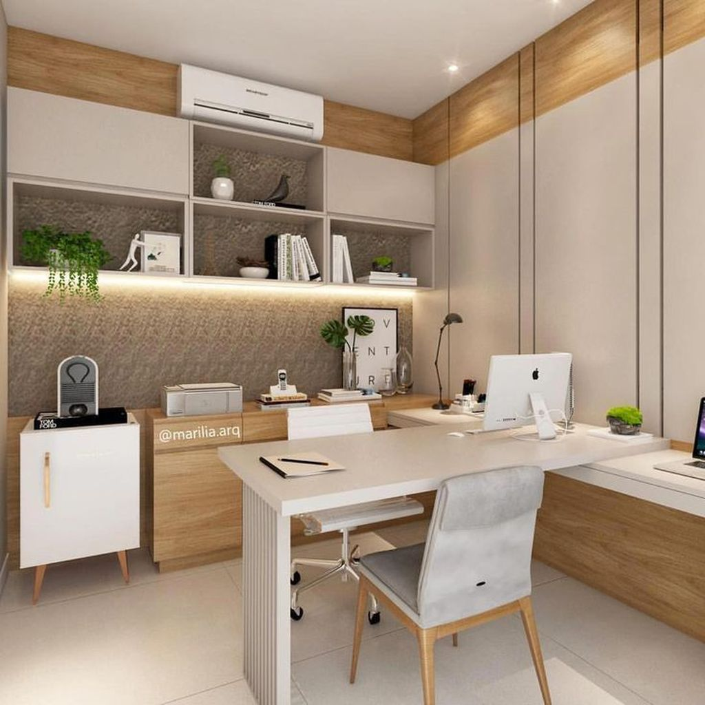 30 Admirable Modern Home Office Design Ideas That You Like