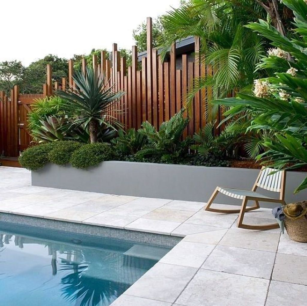 Lovely Swimming Pool Garden Ideas To Get Natural Accent 32