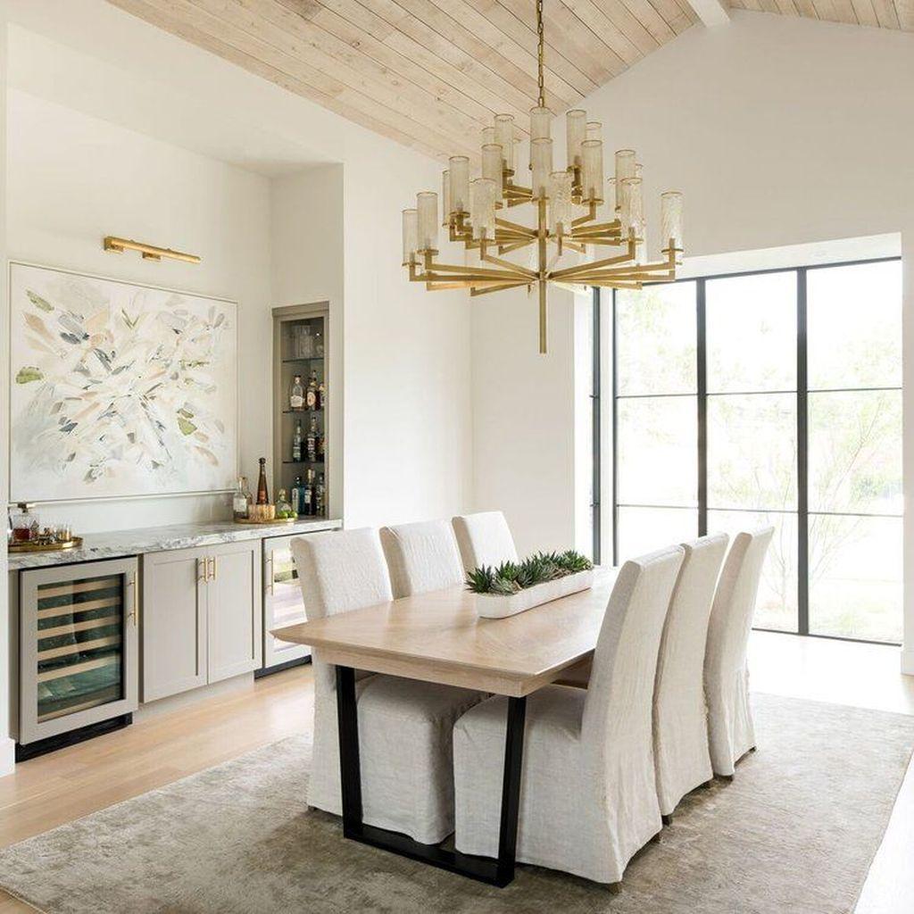 Inspiring Dining Room Buffet Decor Ideas 08