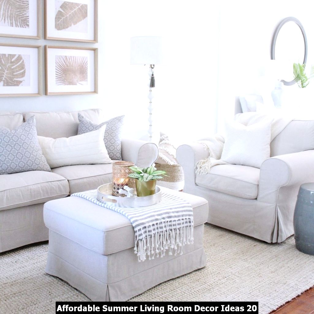 Affordable Summer Living Room Decor Ideas 20