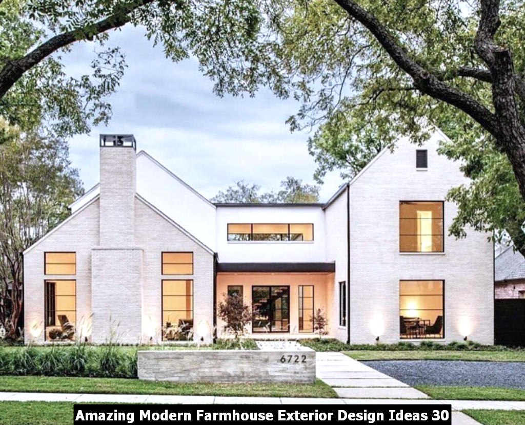 Amazing Modern Farmhouse Exterior Design Ideas 30