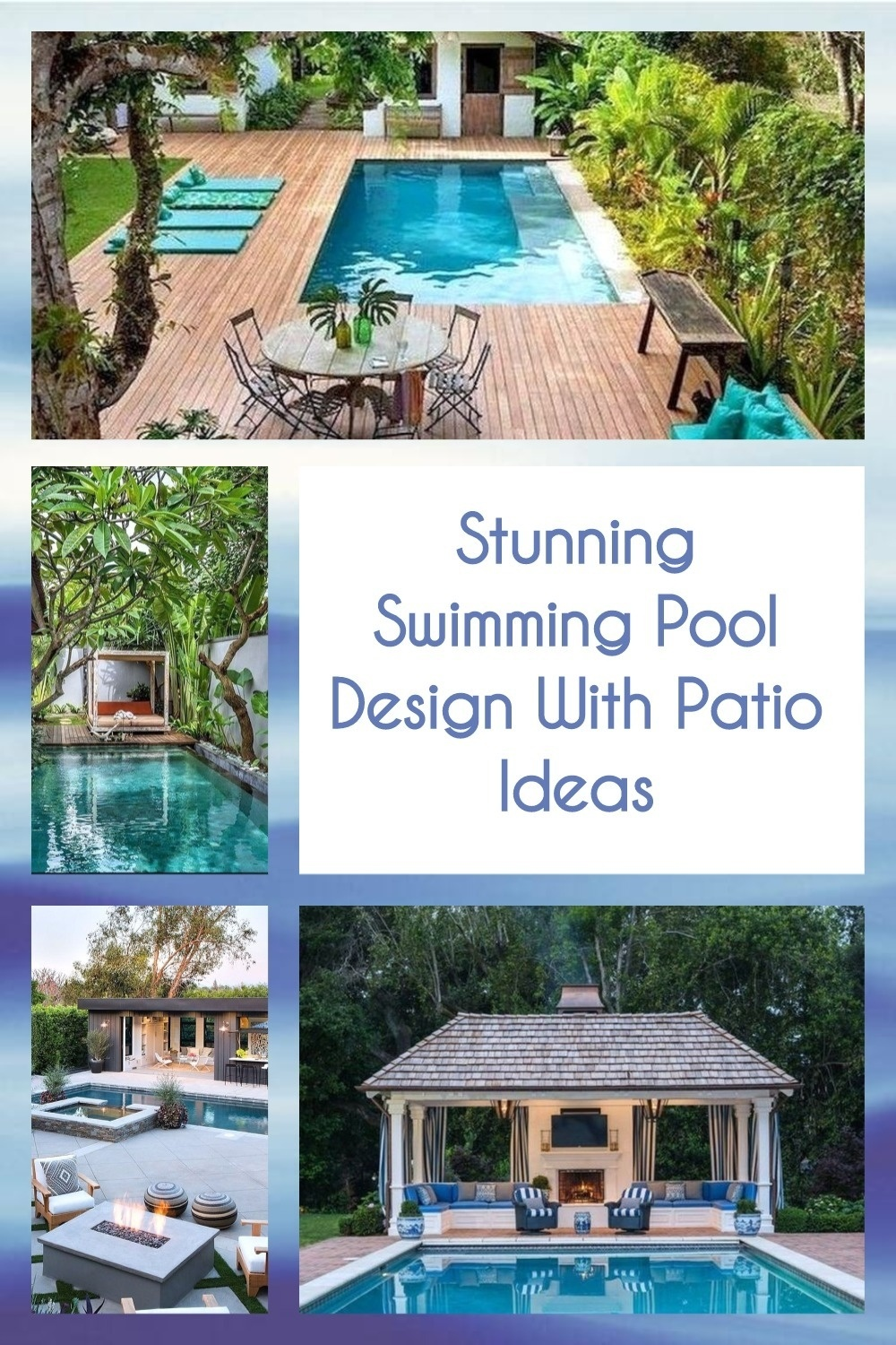 Stunning Swimming Pool Design With Patio Ideas