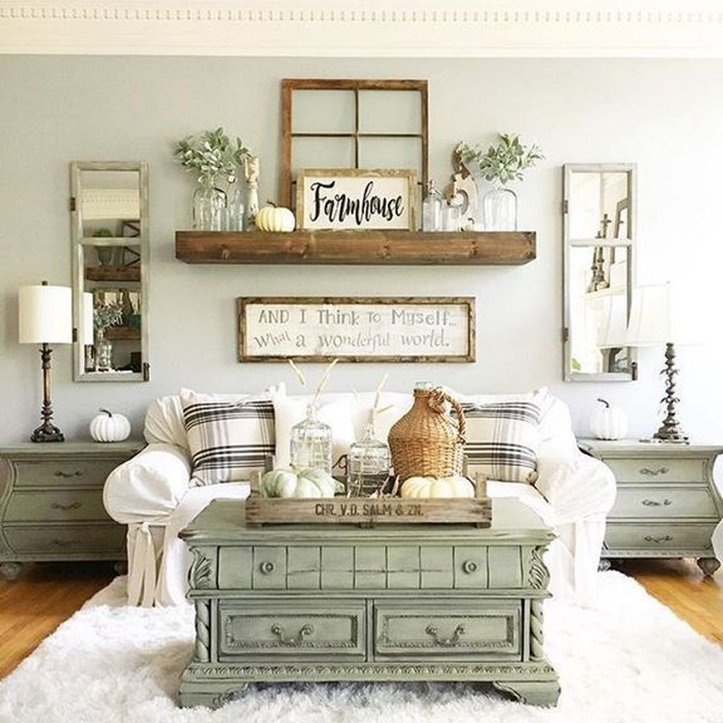 Stylish Rustic Living Room Decor Ideas 29