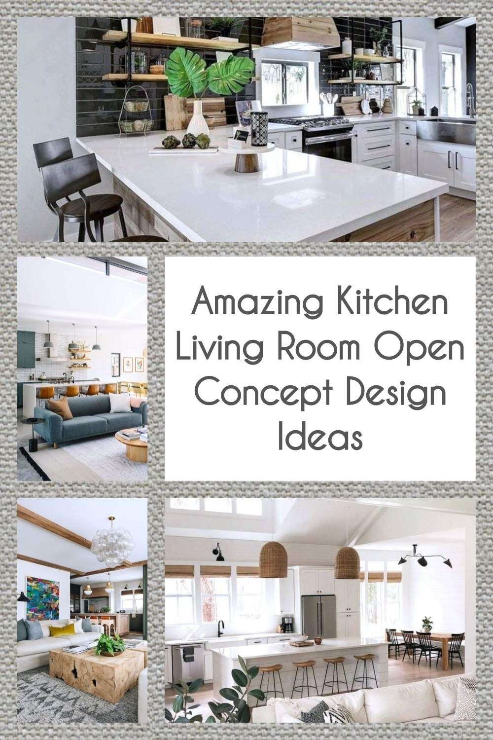 Open Concept Kitchen Living Room Ideas: Amazing Kitchen Living Room Open Concept Design Ideas