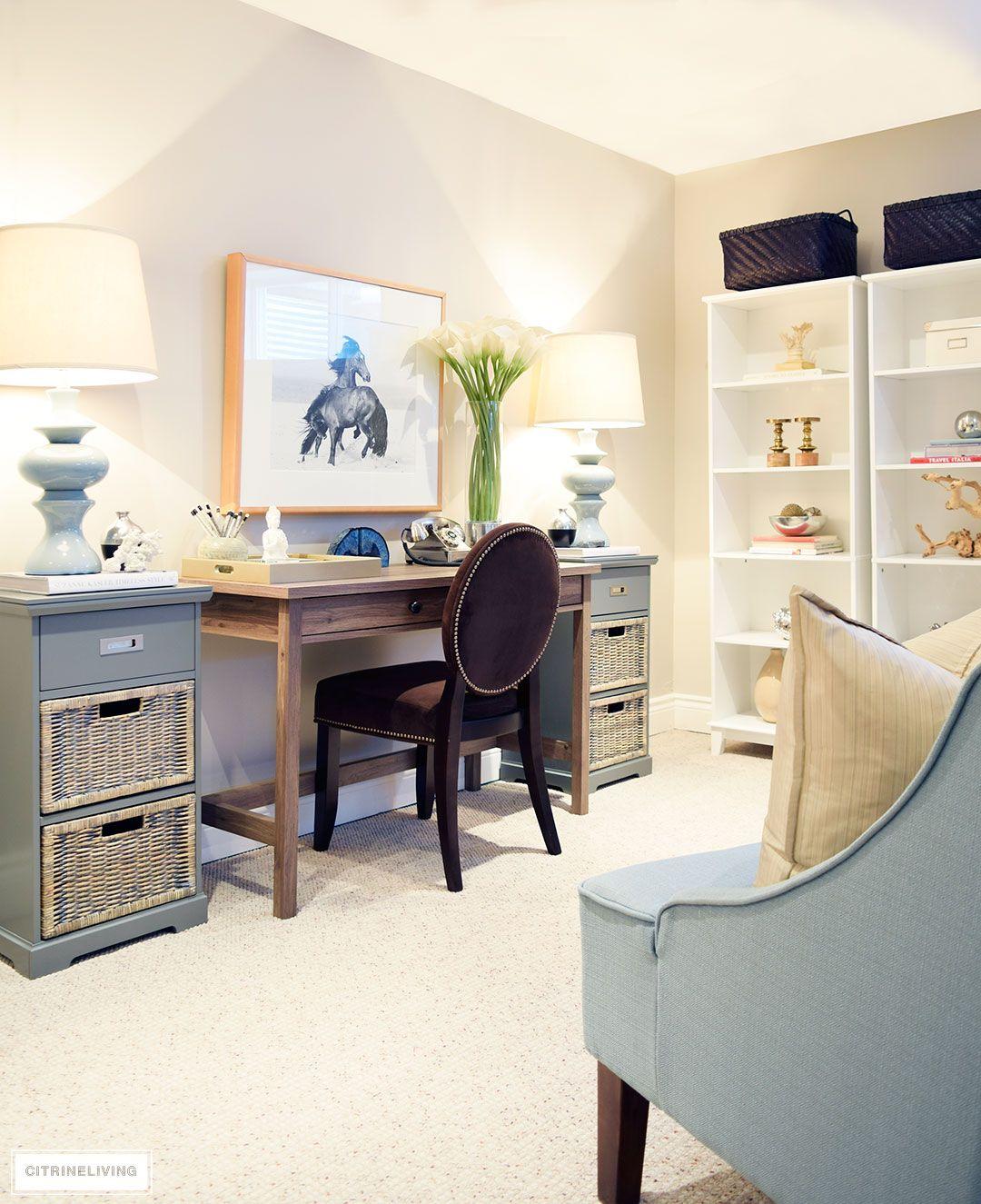 Basement Home Office Ideas