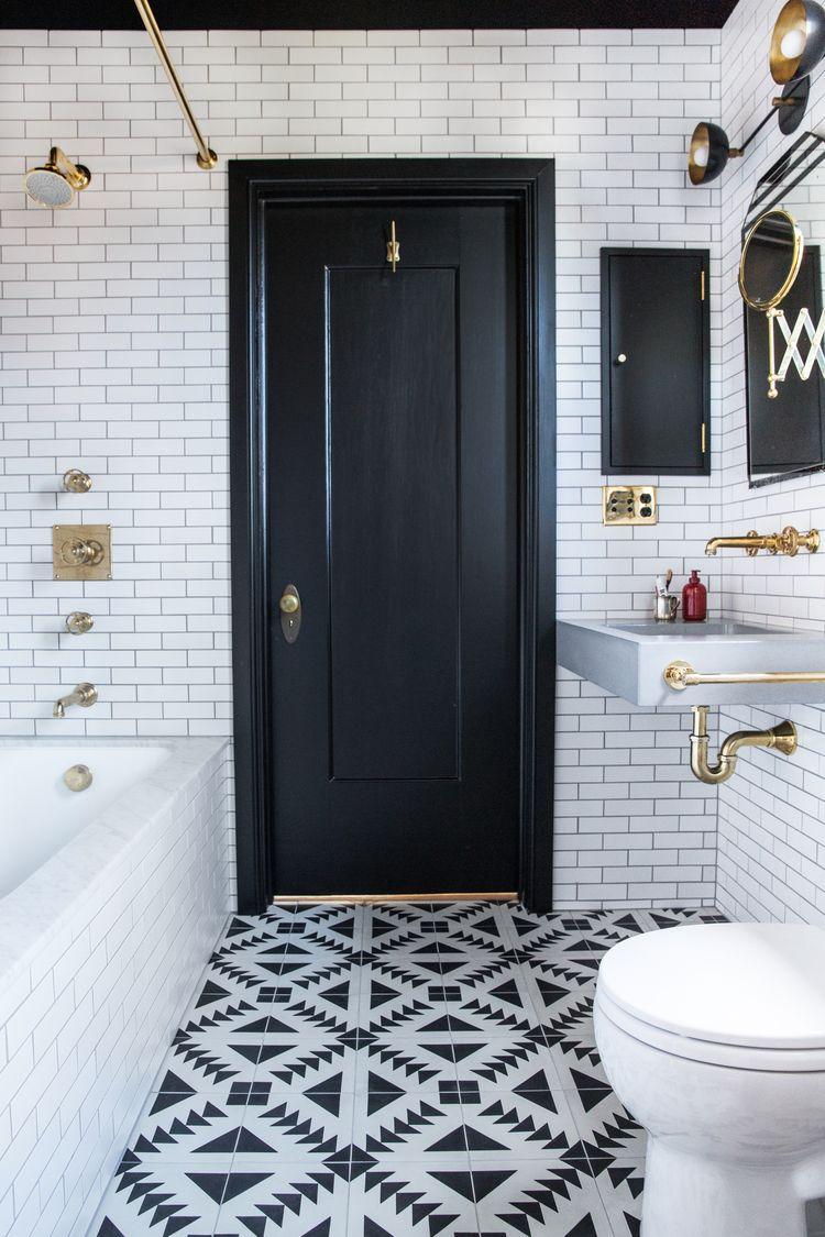 Small Black And White Bathroom