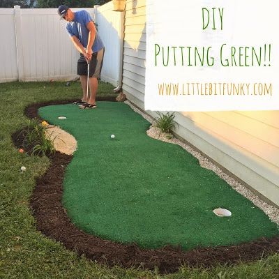 DIY Backyard Putting Green