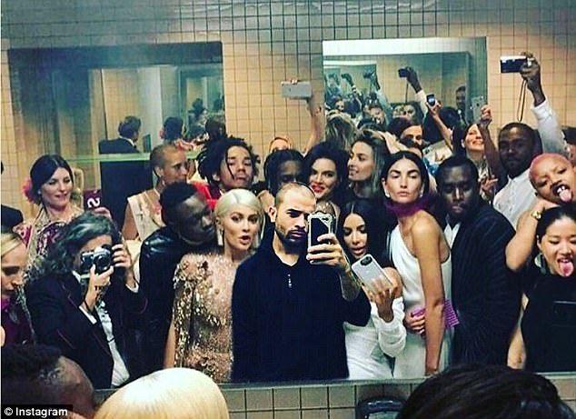 Met Gala Bathroom Selfie
