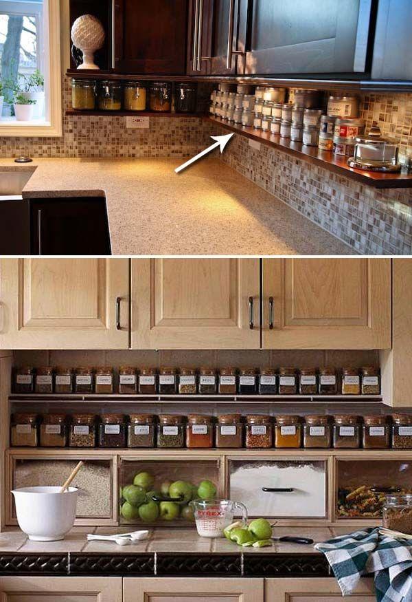Kitchen Counter Organization Ideas