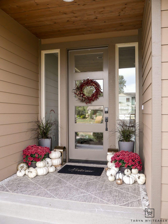 Modern Fall Porch Decor