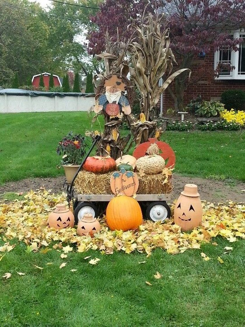 Front Yard Fall Decorating Ideas