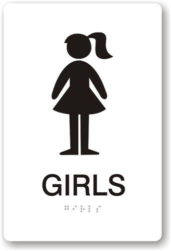 Girls Bathroom Sign