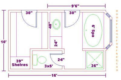 Master Bathroom Dimensions