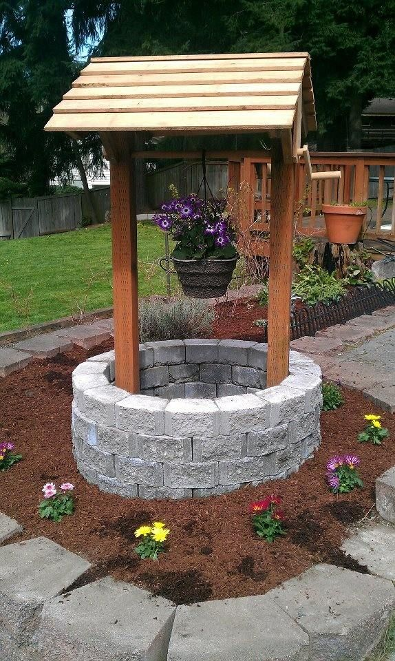 Wishing Well Garden Decor
