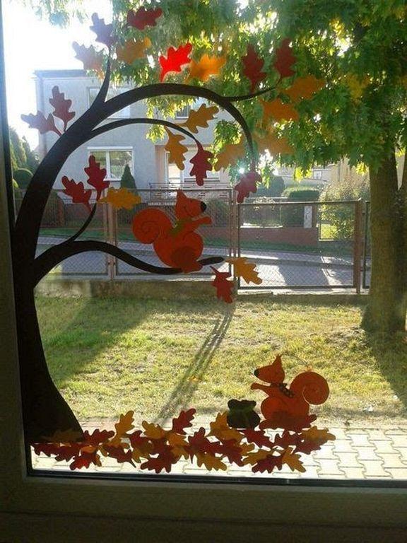 Fall Window Decorating Ideas