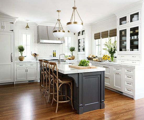 White Kitchens With Islands