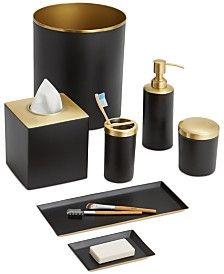 Black And Gold Bathroom Set