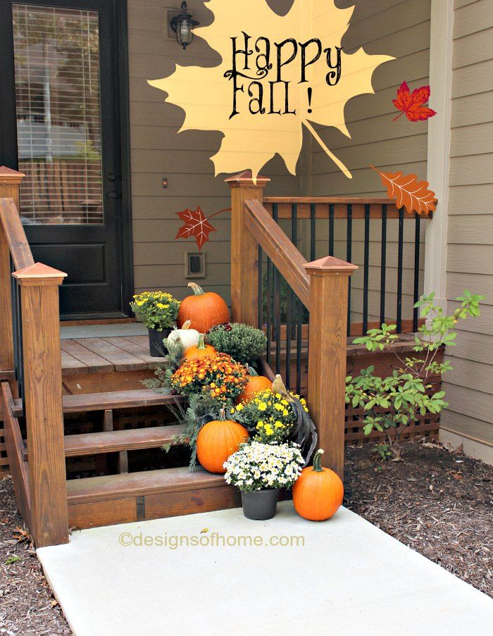Front Step Fall Decor