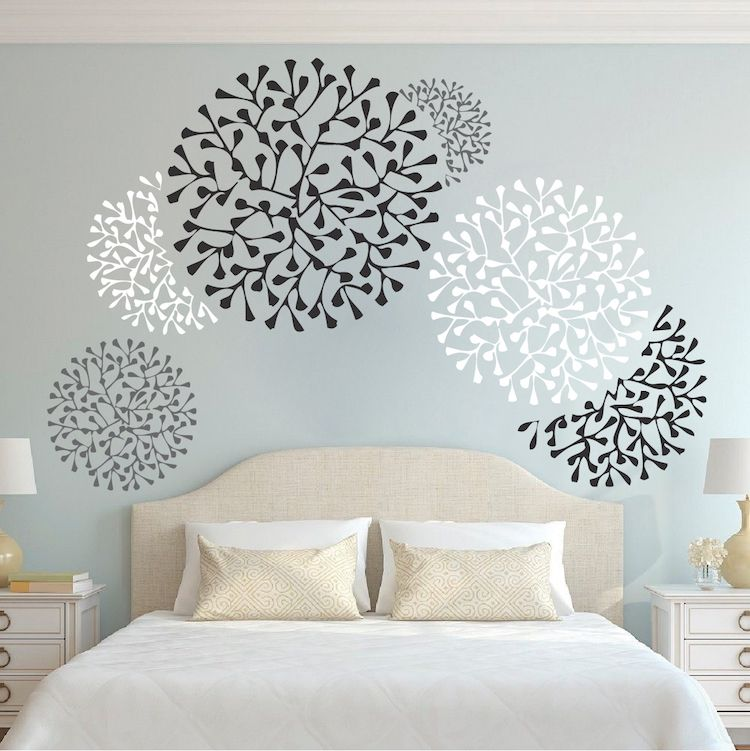Wall Stencils For Bedroom
