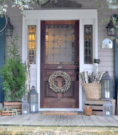 Winter Front Porch Decorating Ideas