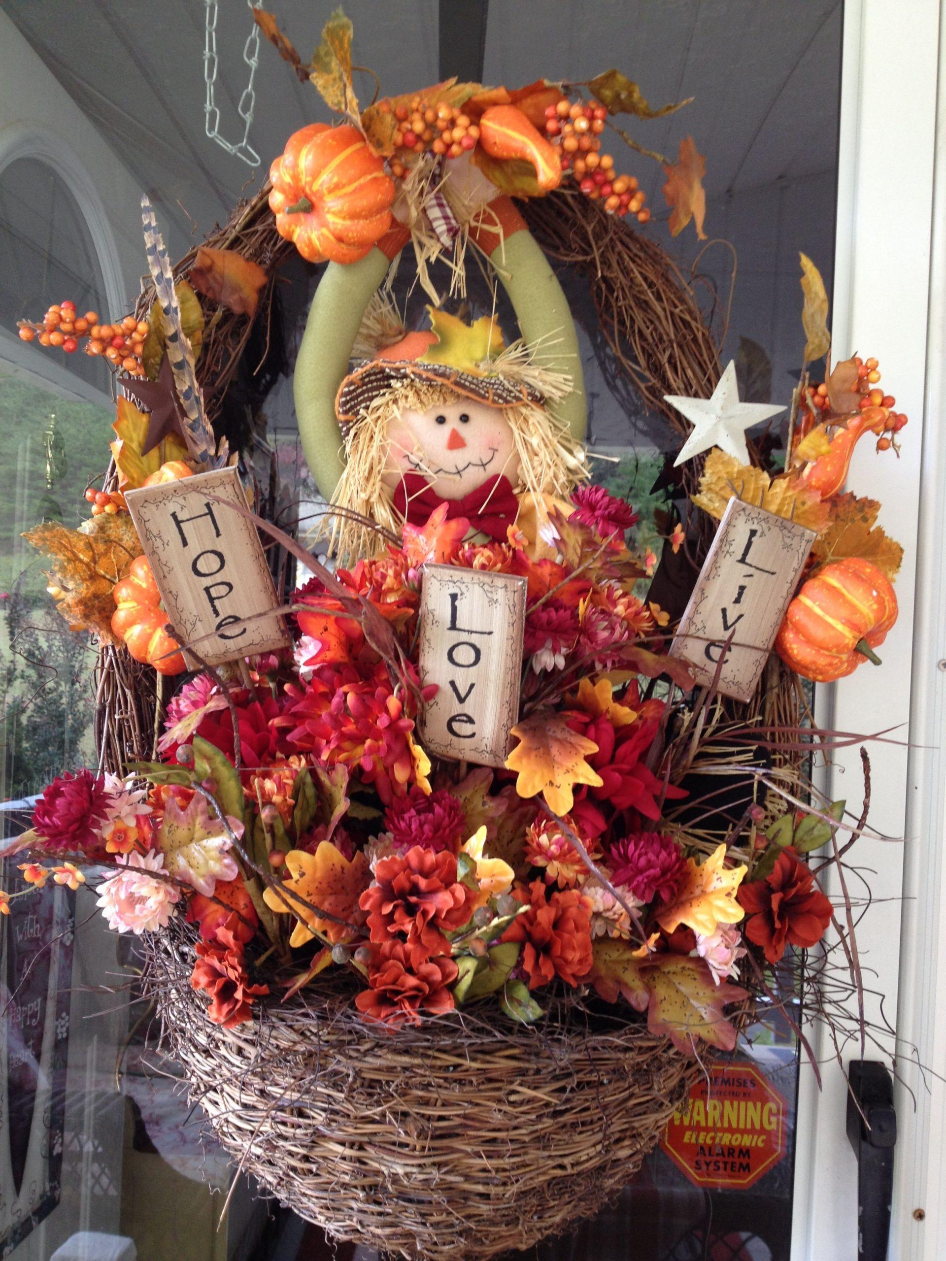 Fall Basket Decorating Ideas