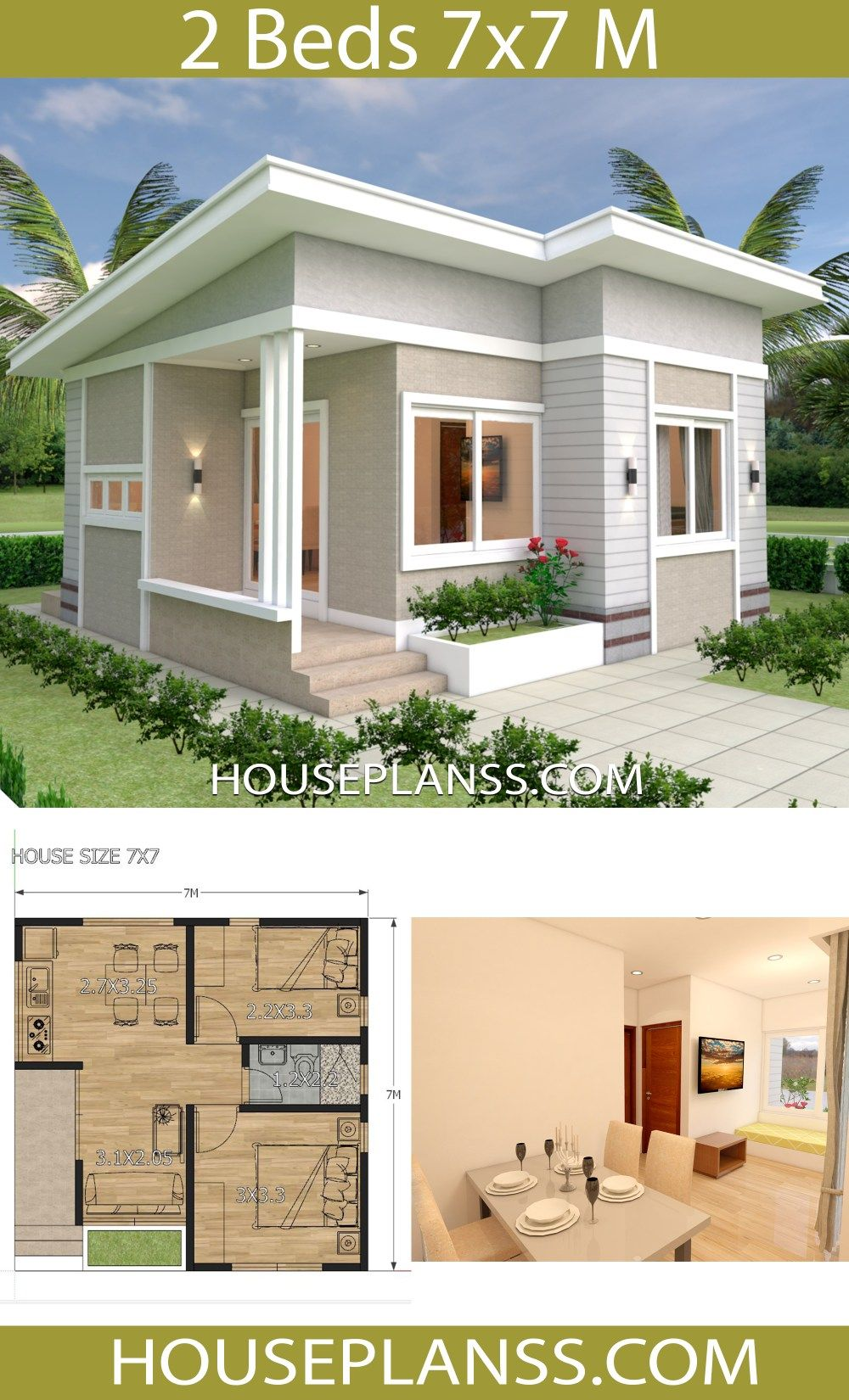 Two Bedroom Small House Plans