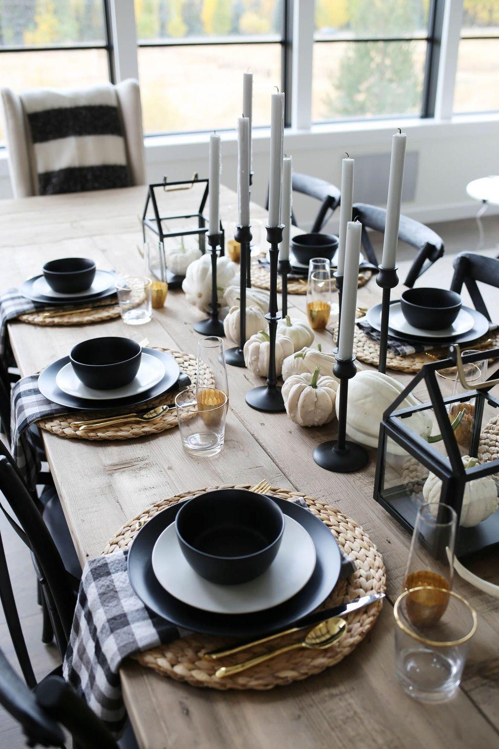 Modern Fall Table Decor