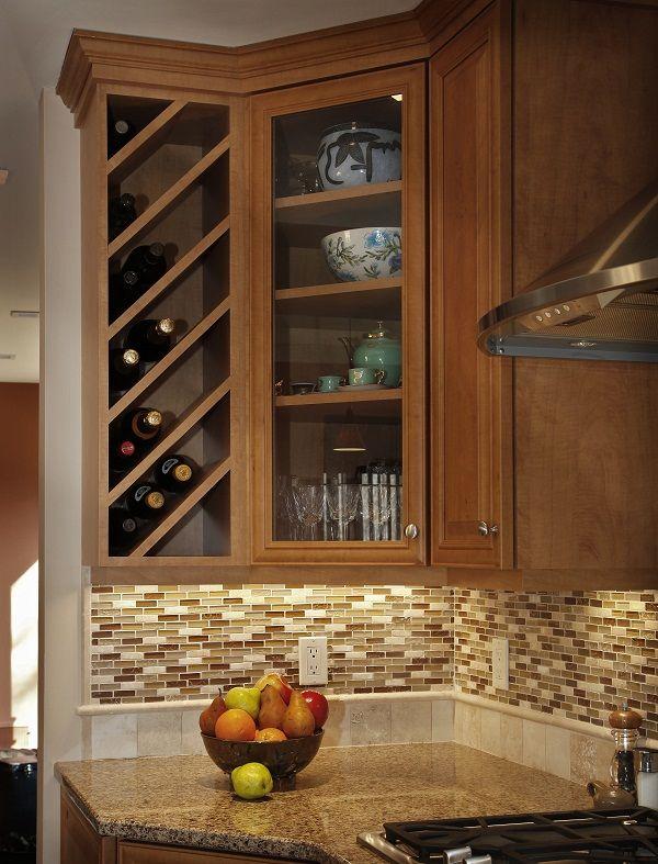 Kitchen Cabinet Wine Rack