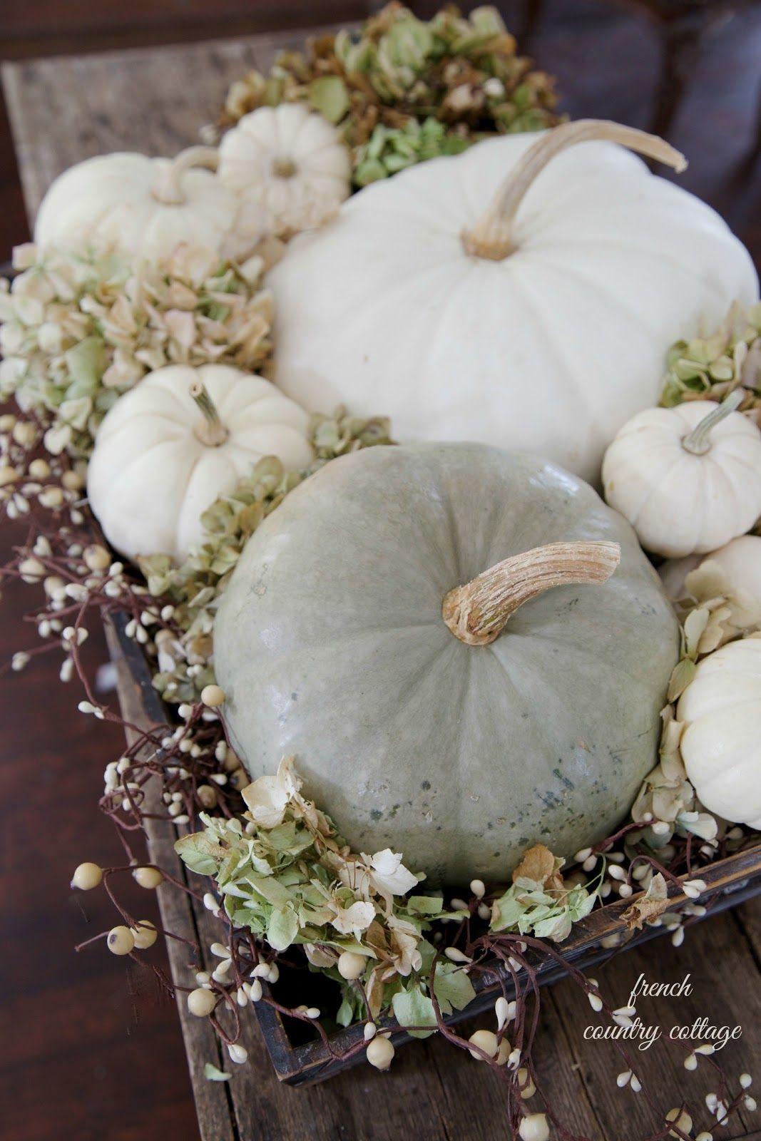 White Pumpkin Fall Decor