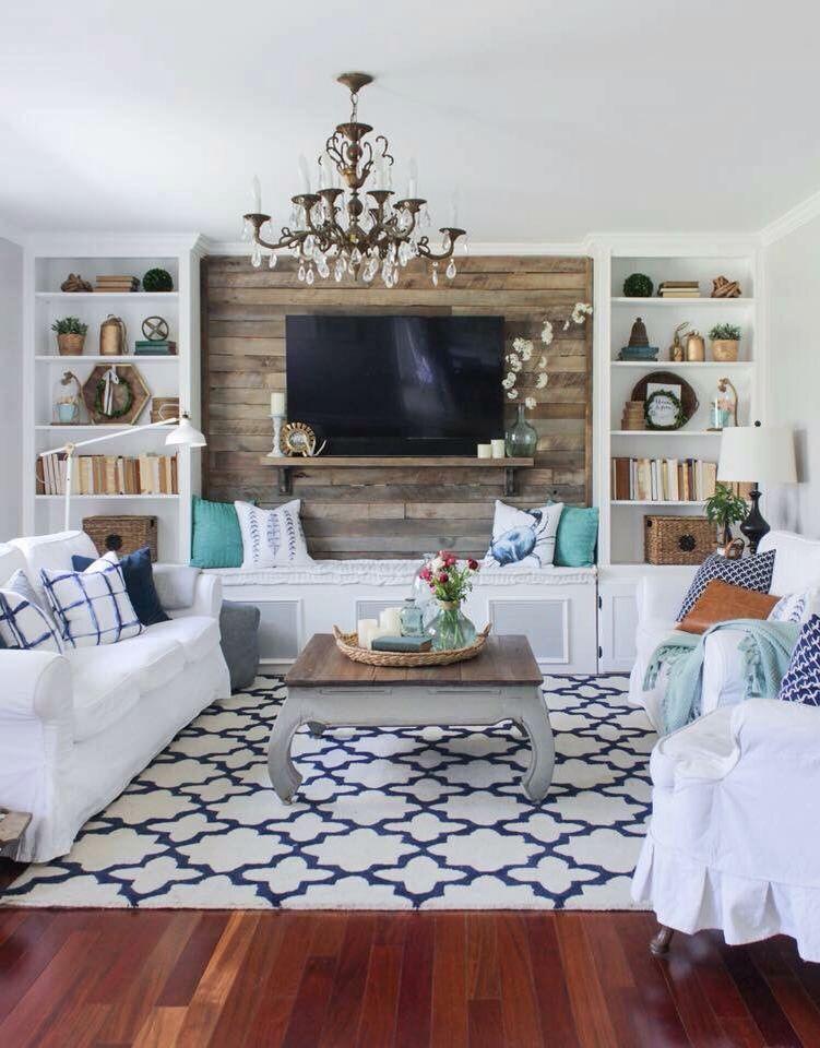 Living Room Shiplap Walls