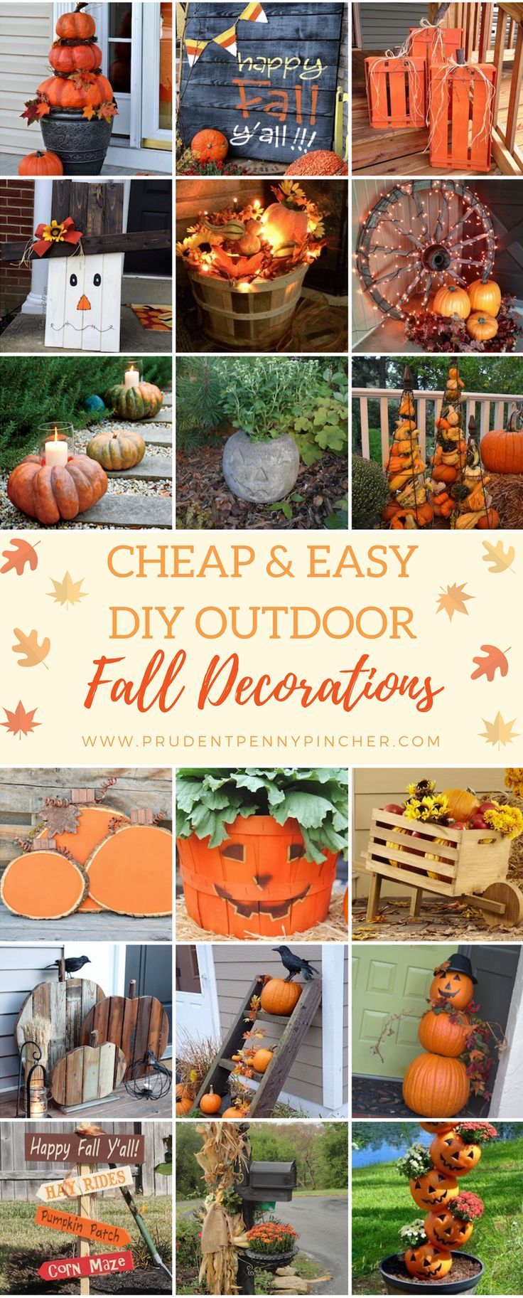 Cheap DIY Outdoor Fall Decorations