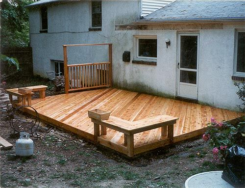 Ground Level Backyard Decks