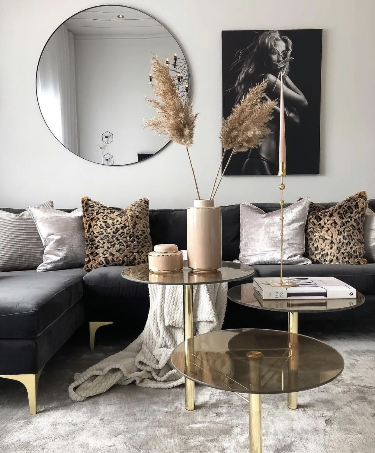Black And Gold Living Room