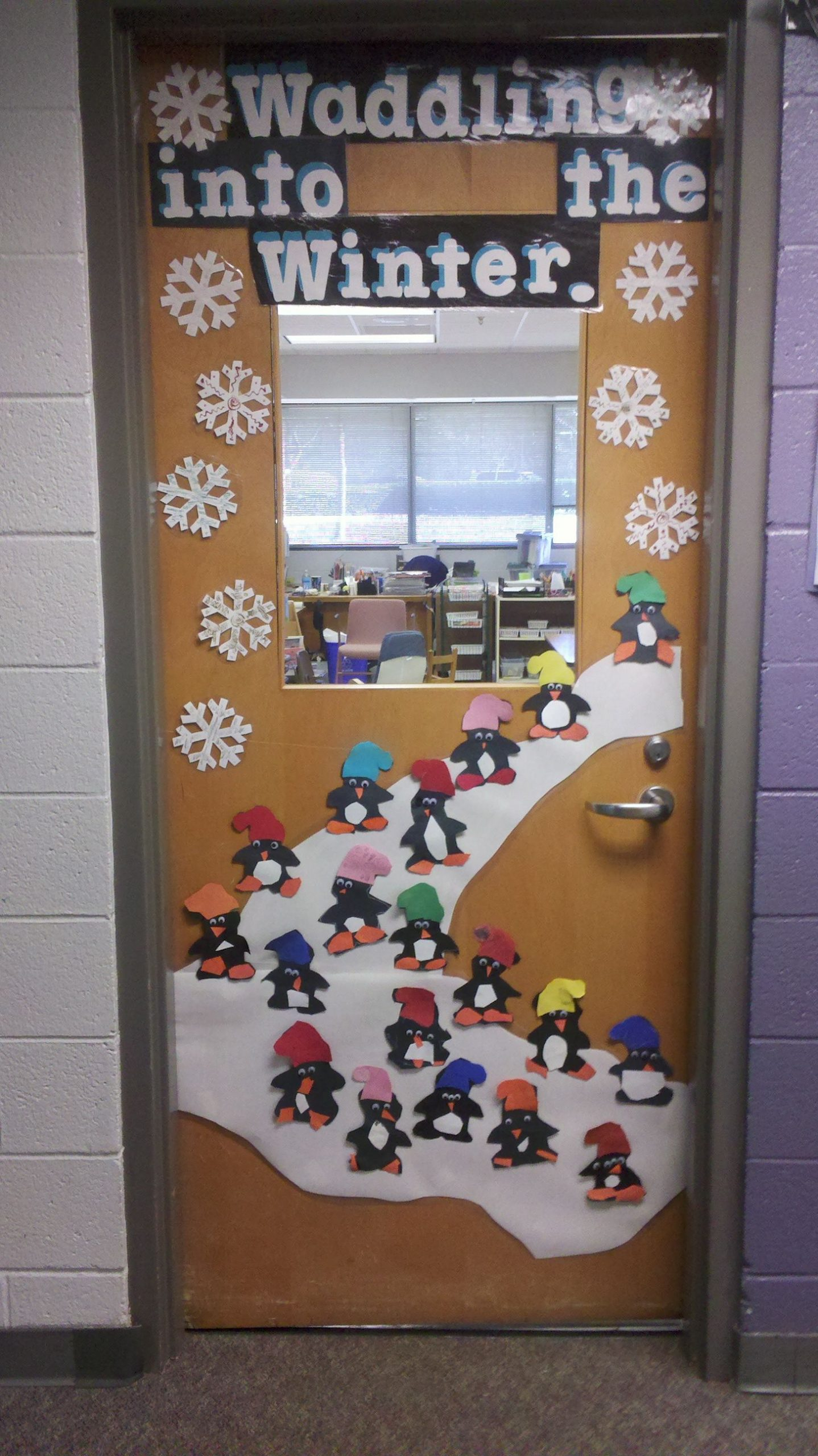 Winter Classroom Door Decorations