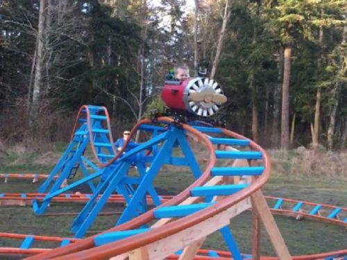 Kids Backyard Roller Coaster
