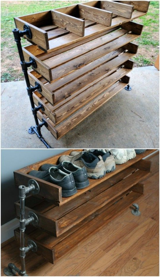 DIY Homemade Shoe Rack