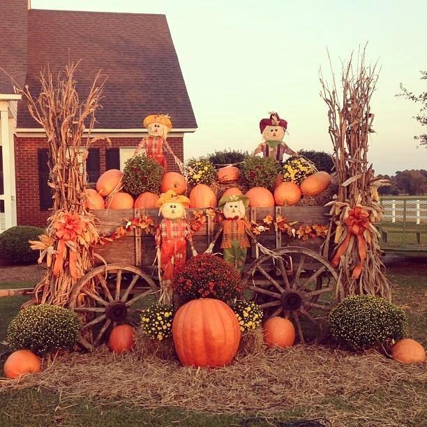 Fall Wagon Decorating Ideas