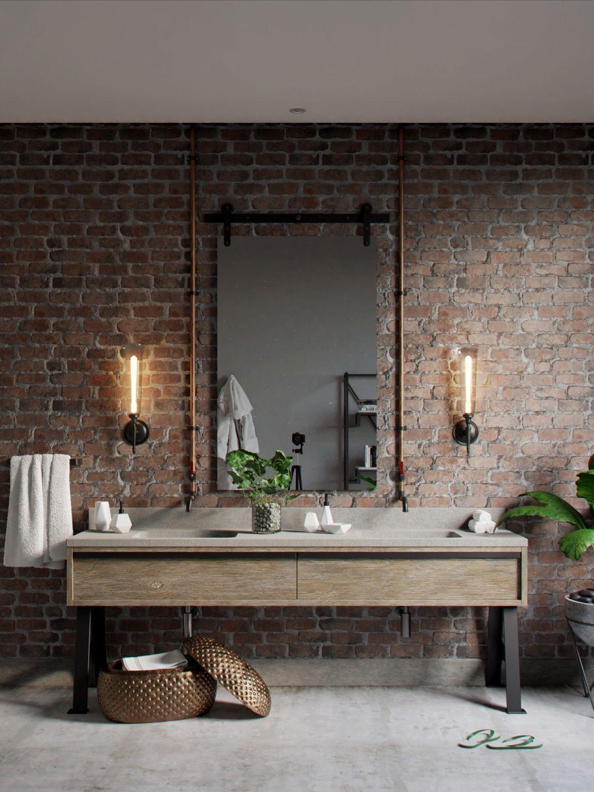 Industrial Bathroom Mirror