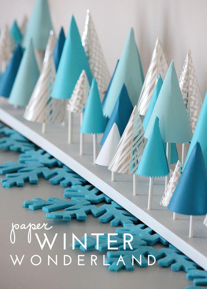 Homemade Winter Wonderland DIY Decorations