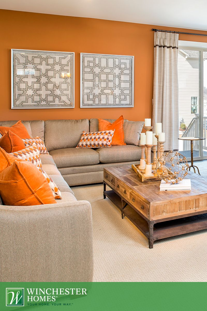 Orange Living Room Decor