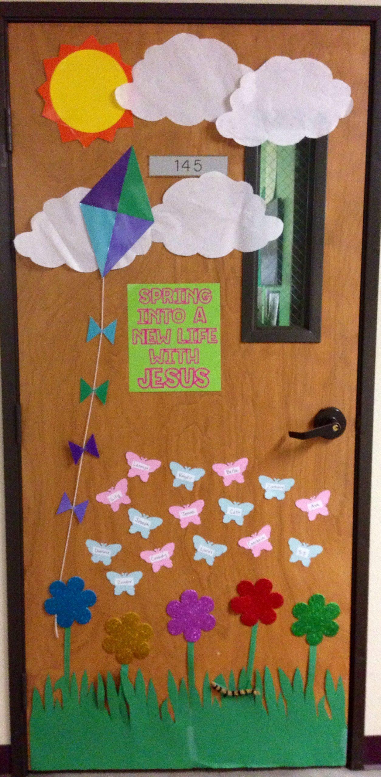 Spring Door Decorations For Preschool