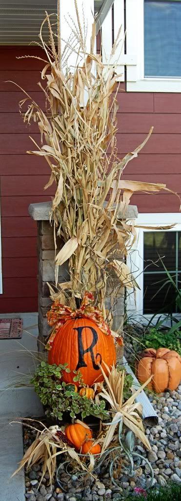 Corn Stalk Fall Decor